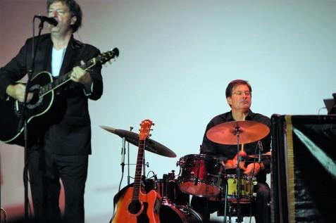 Simon and drummer