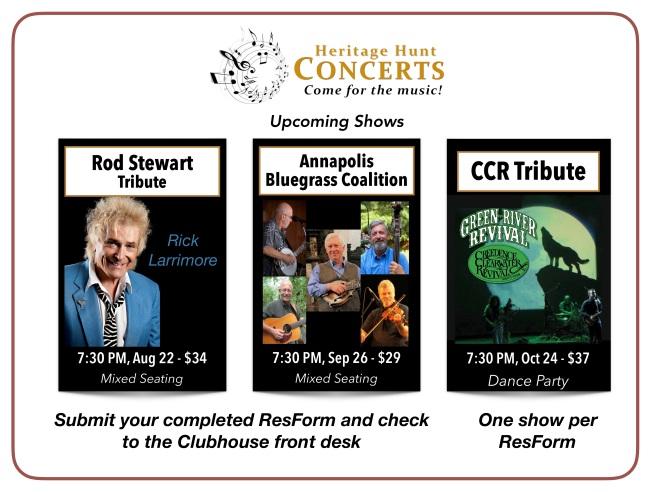3-Concert Schedule - Aug thru Oct