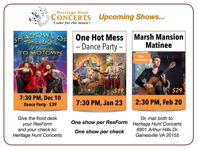 3-Concert Schedule - Dec thru Feb, 2020